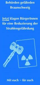 Flyer der Atomklage vom Rechtshilfefonds Strahlenschutz e.V. Braunschweig