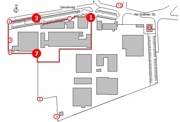 Betriebsgelände Eckert & Ziegler, GE Healthcare (Quelle: NLWKN)