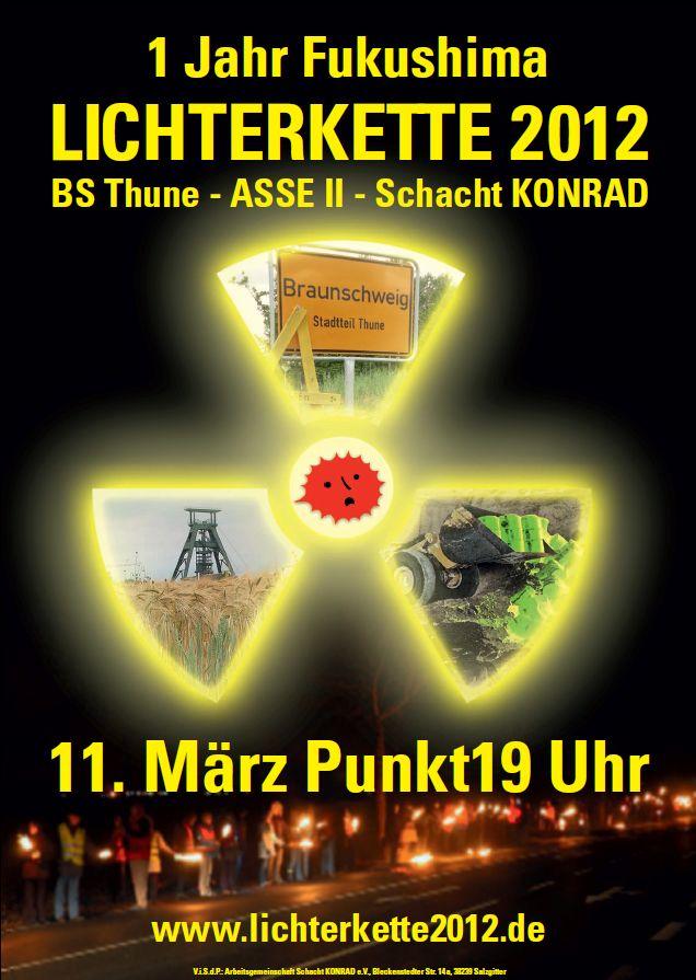 Lichterkette 2012, 11. März, 19 Uhr