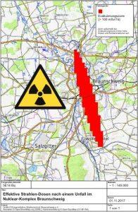 Grafik der Evakuierungszone
