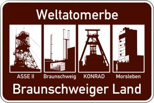 Weltatomerbe Banner des Braunschweiger Landes