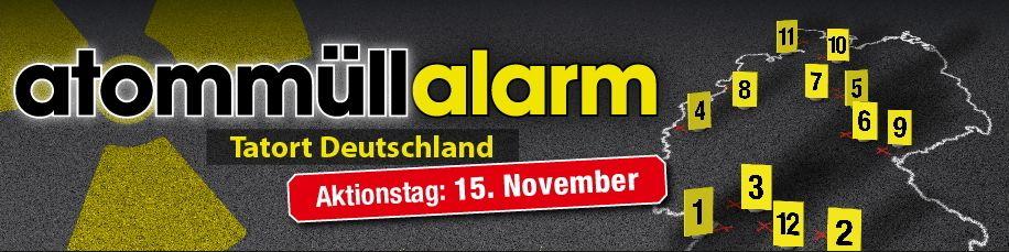 Bundesweiter Aktionstag Atommüll Alarm